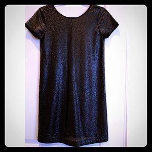 Francescas Black Sequin Shift Dress